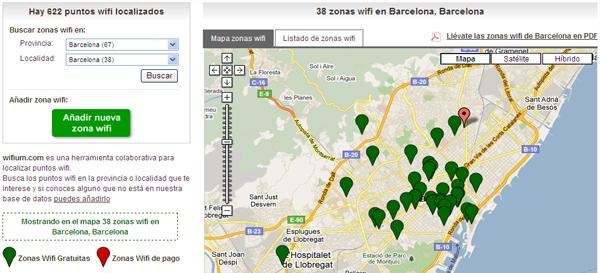 Mapes De Punts De Connexio Wi Fi A Internet Beteve