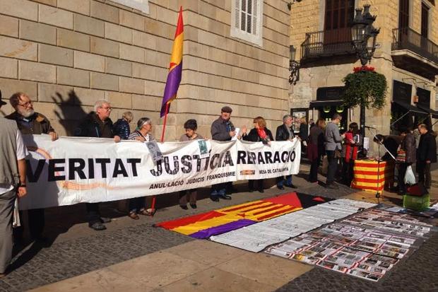Protesta dels represaliats pel franquisme