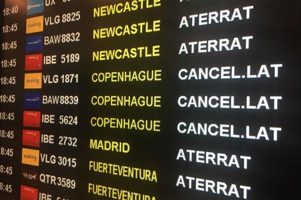 llista de vols cancelats aeroport Prat