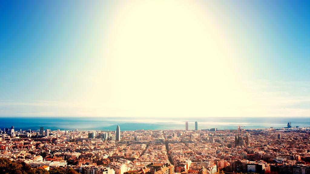 Imatge d'un dia de calor intensa a Barcelona