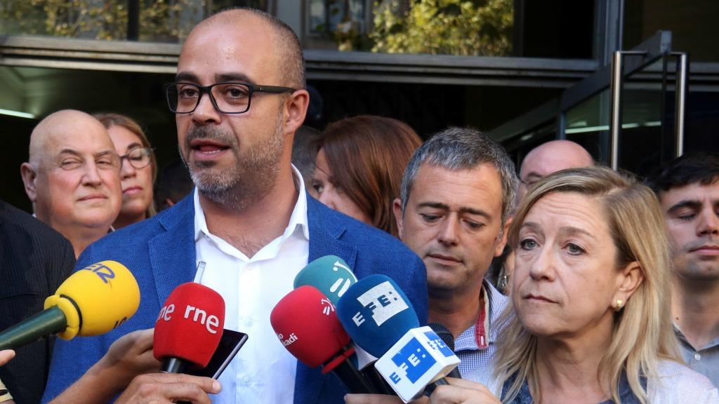 Buch i Lloveras fan declaracions a la premsa per la causa contra l'1 d'octubre