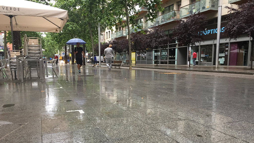Pluja a Barcelona