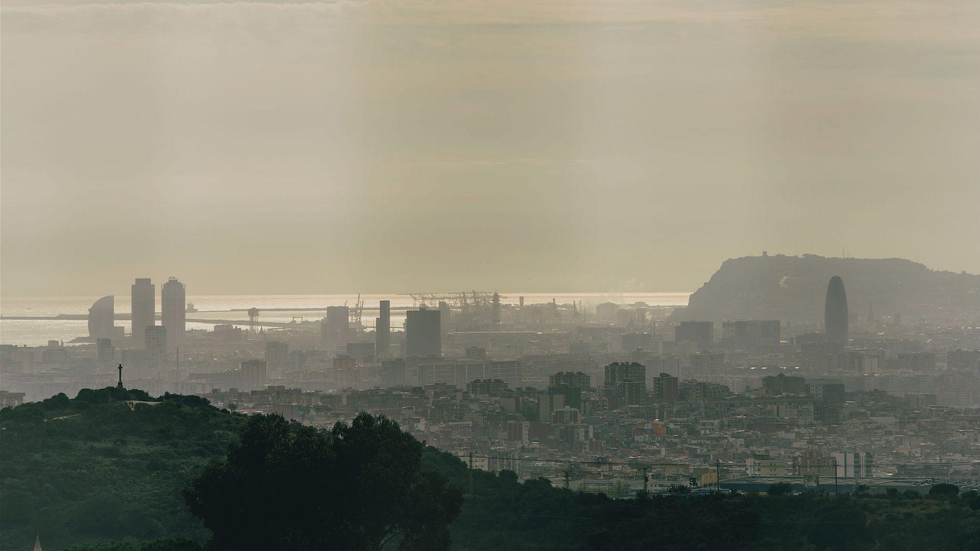 imatge del cel de Barcelona