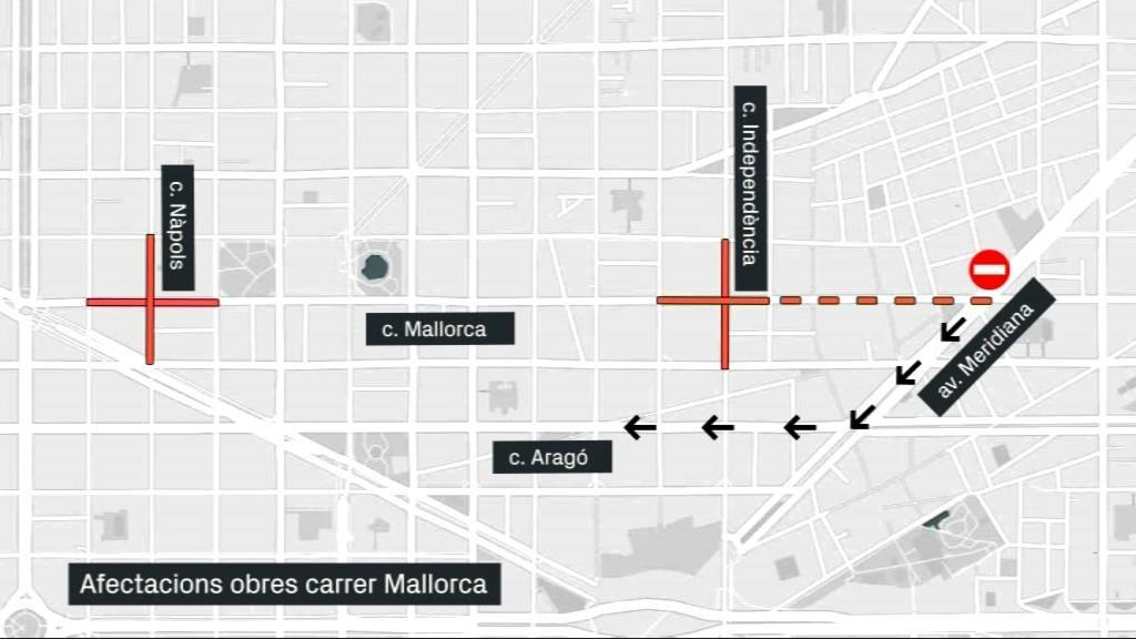 mapa talls carrer Mallorca