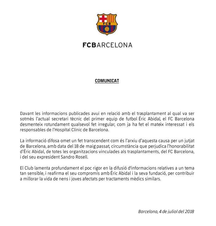 comunicat-FC-Barcelona-abidal-acusat-trasplantament-ilegal-fetge