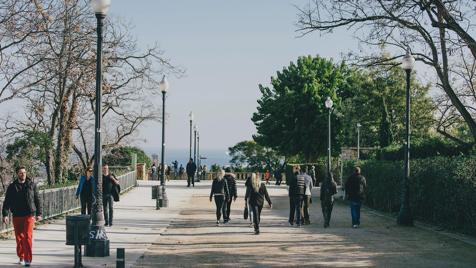 Imatge del parc de Montjuïc