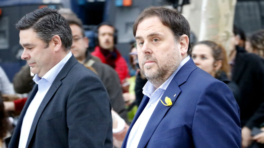 L'exvicepresident Oriol Junqueras arribant a l'Audiència Nacional el 2 de novembre del 2017