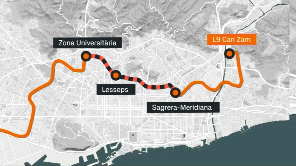 Tram central de l'L9
