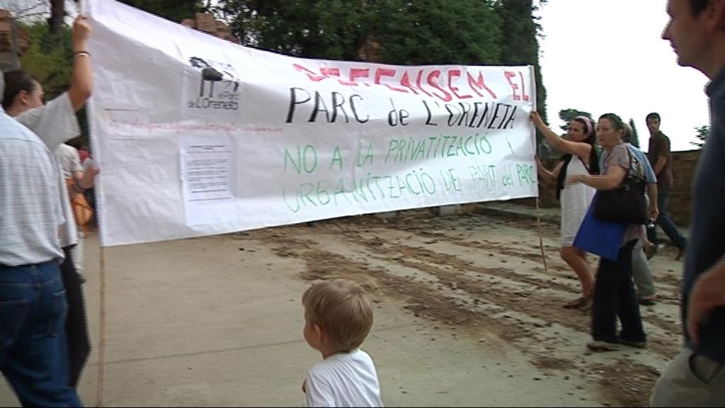 pancarta Defensem Parc Oreneta