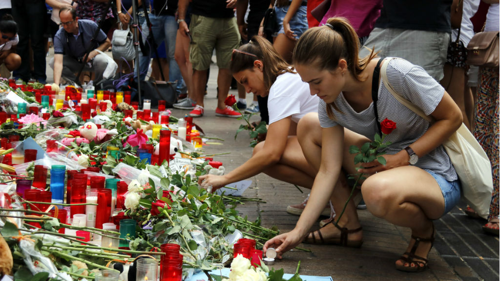 Un dels espais de la Rambla en rècord a les víctimes