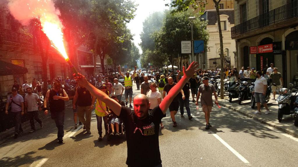 vaga taxis manifestacio