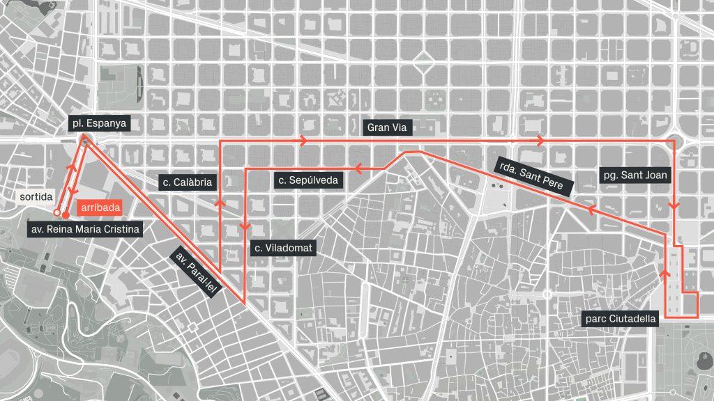 cursa mercè 2018 mapa recorregut