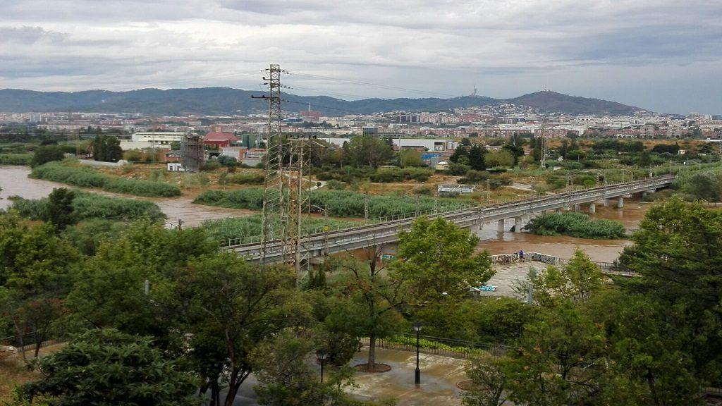 El riu Llobregat al seu pas per Sant Boi