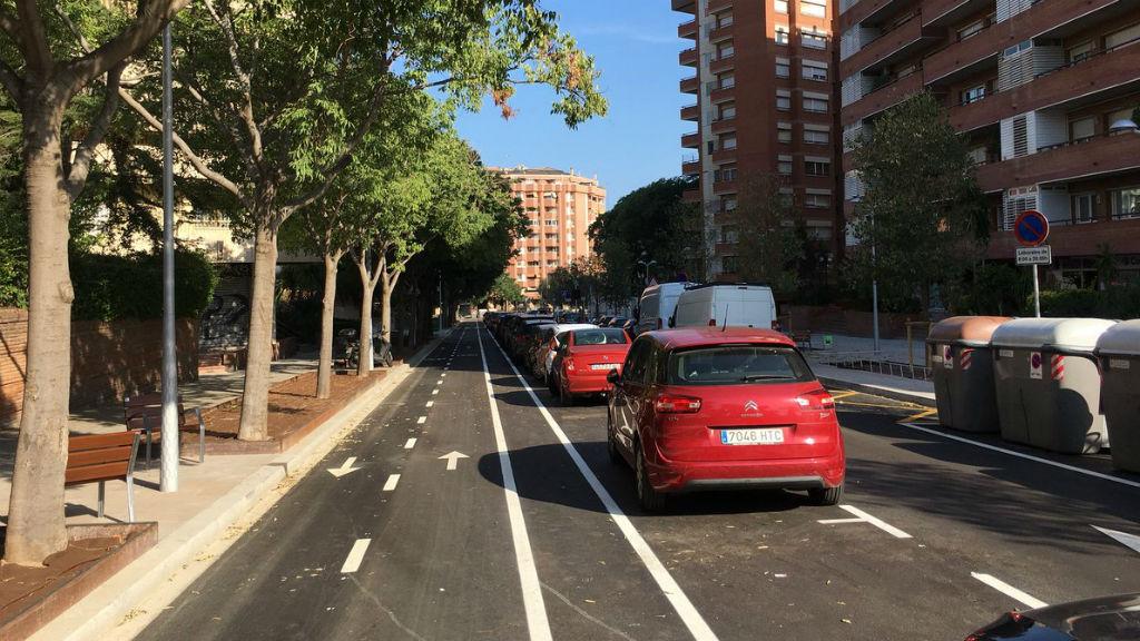 reforma carrer Pisuerga a Les Corts