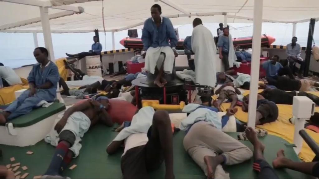 Refugiats al vaixell d'Open Arms