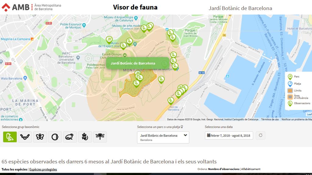 Mapa de localització de fauna
