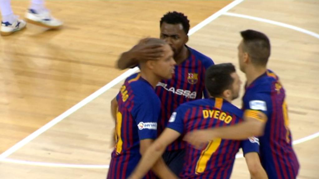 El Barça futbol sala guanya la Copa Catalunya
