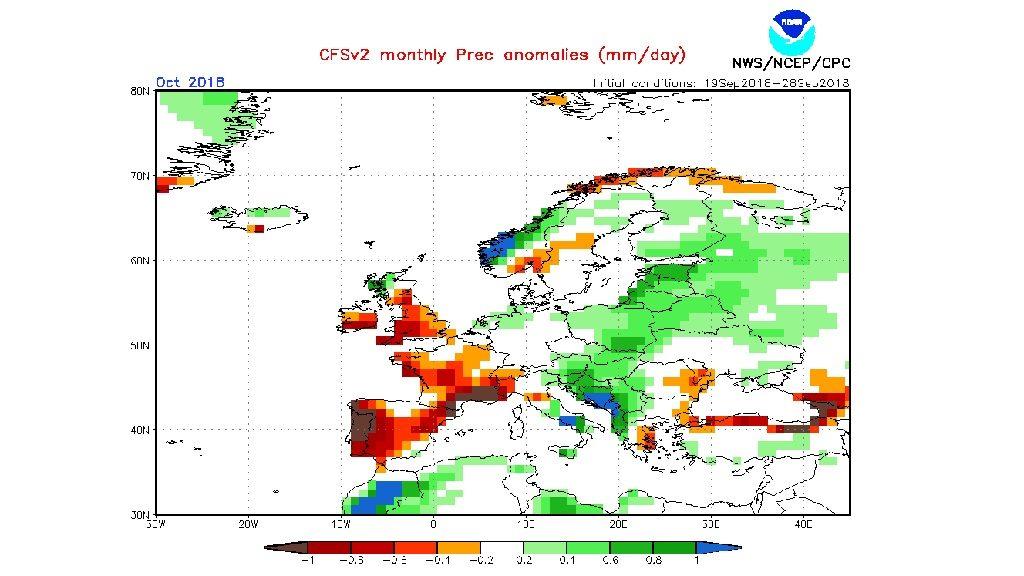 Mapa d'anomalia pluviomètrica