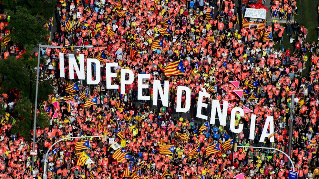 "La paraula ""independència"" , entre els manifestants"
