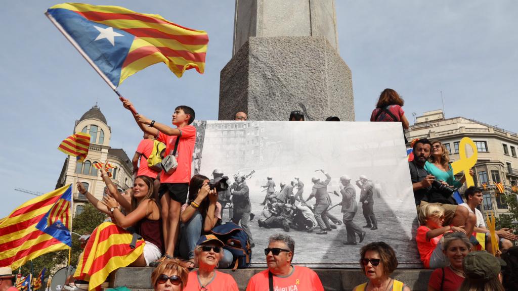 Manifestants a la Diagonal