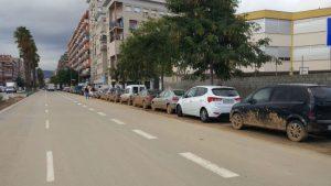 Els efectes de la forta pluja són visibles als barris de la Marina