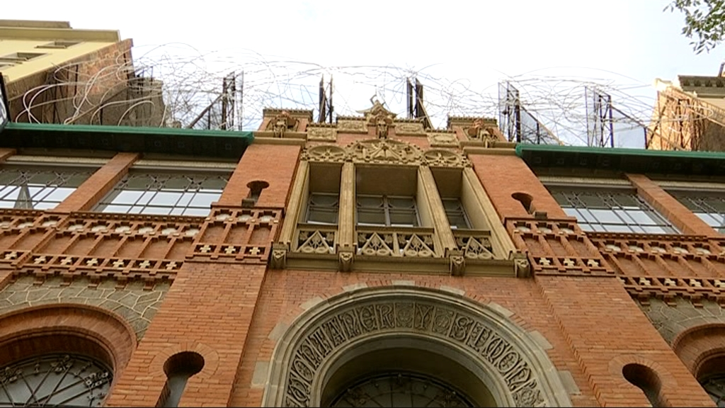 façana de la Fundació Antoni Tàpies