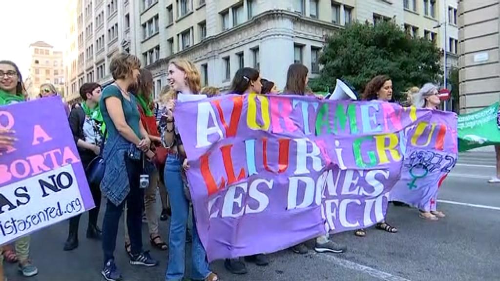 Manifestació a favor de l'avortament