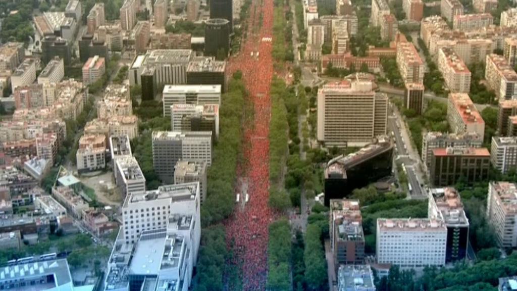 Imatge aèria manifestació Diada