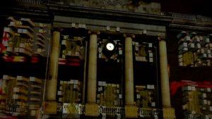 L'Ajuntament es converteix per uns dies en una pantalla de projeccions amb el mapatge de la Mercè