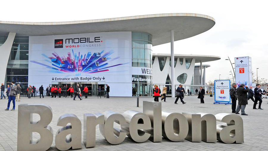Entrada al Mobile World Congress a la Fira de Barcelona