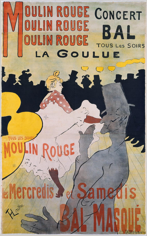 MOULIN ROUGE: LA GOULUE Toulouse-Lautrec, 1891