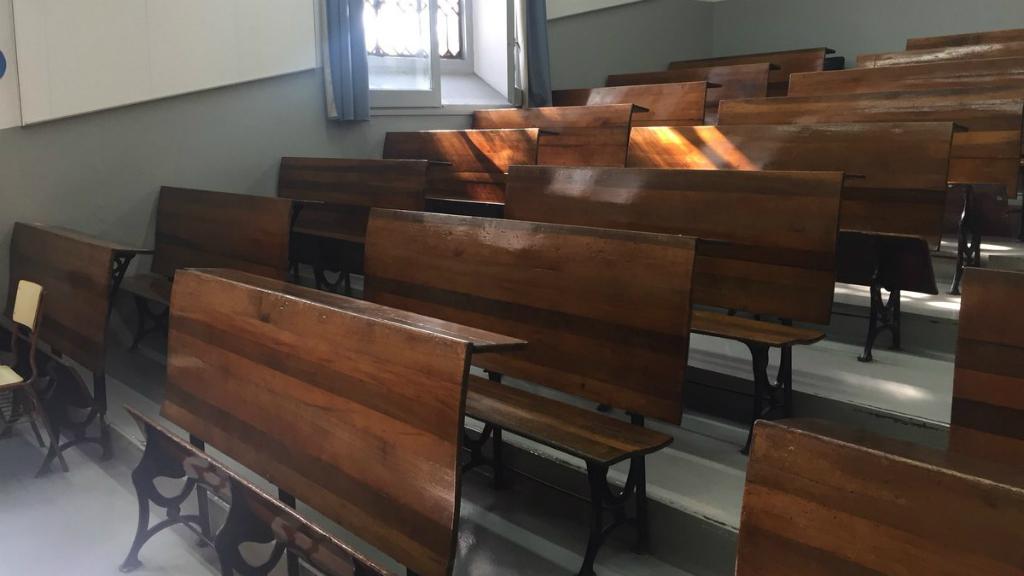 Hi ha classes que han quedat ben buides, com a algunes facultats de la Universitat de Barcelona