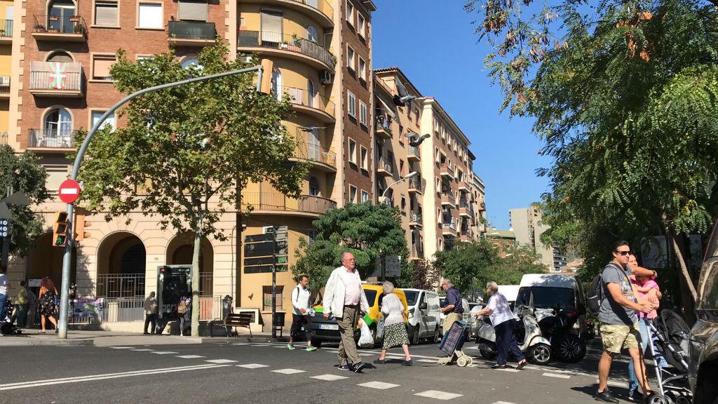 avinguda borbó cantonada amb passeig maragall