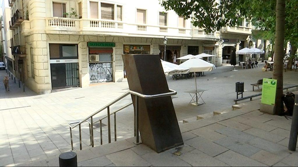 Pedestal del bust de Narcís Oller
