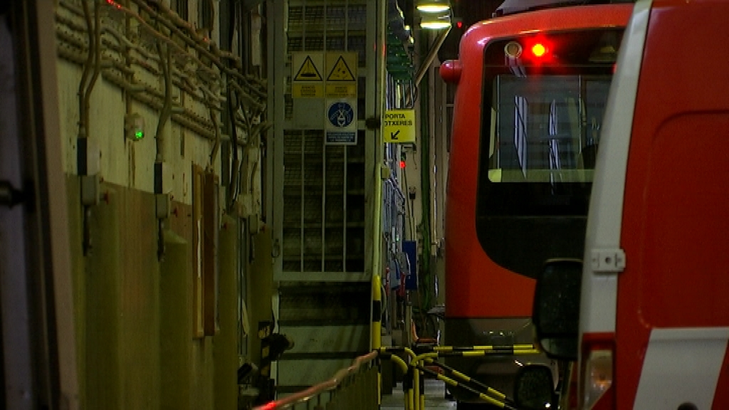Combois del metro amb amiant
