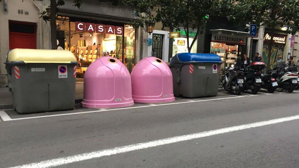 contenidor rosa vidre càncer mama