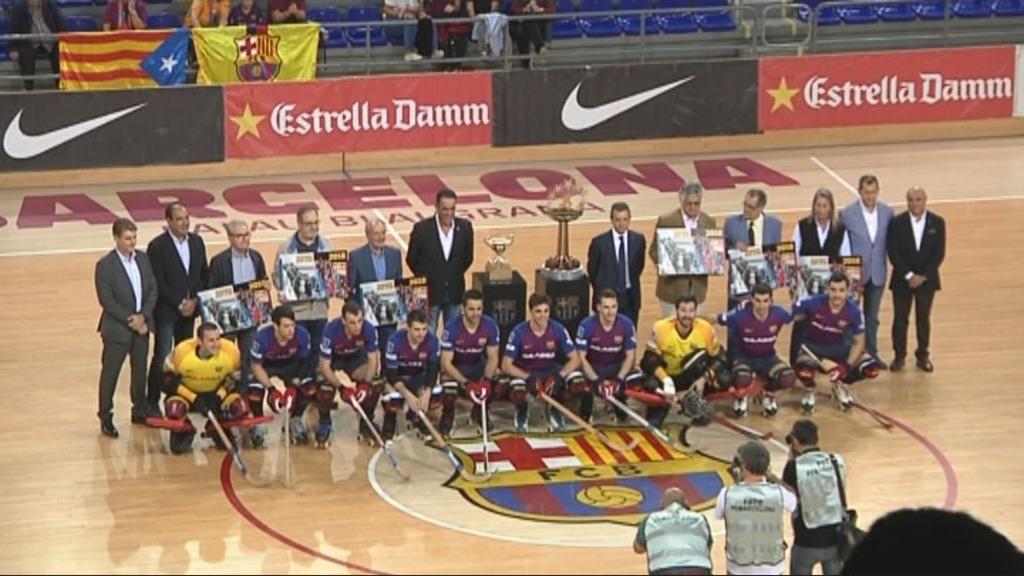 Homenatge campions 1973 FC Barcelona Hoquei patins