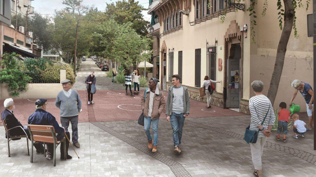 Imatge virtual pacificació carrer Feliu i Codina