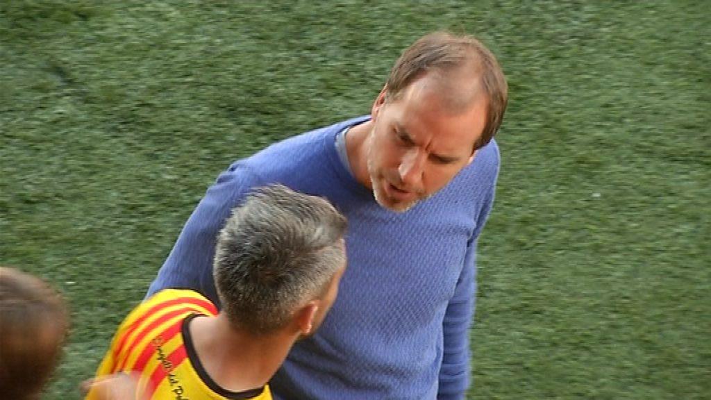 Mikel Azparren, tècnic UE Sant Andreu