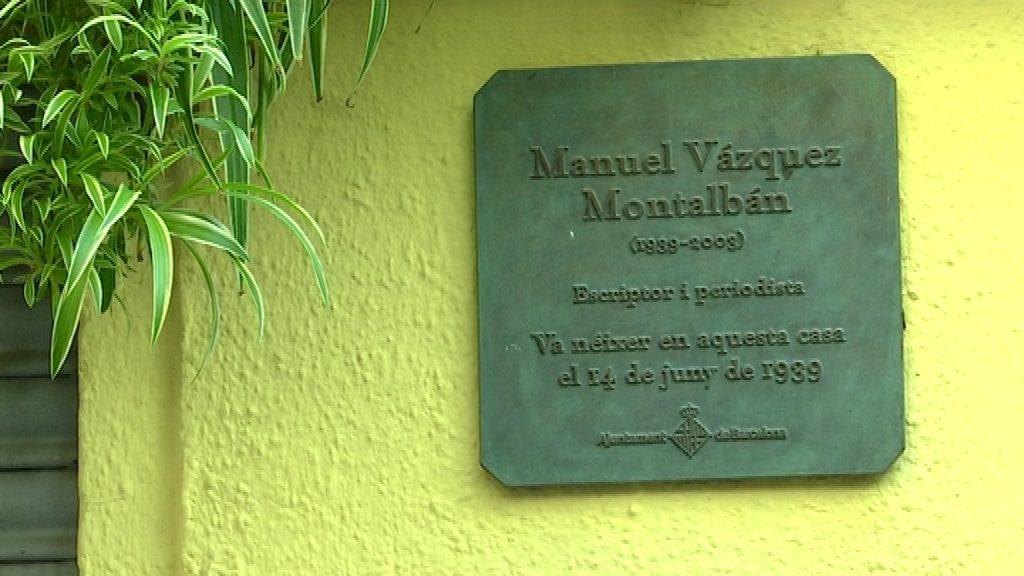 placa homenatge montalban carrer botella
