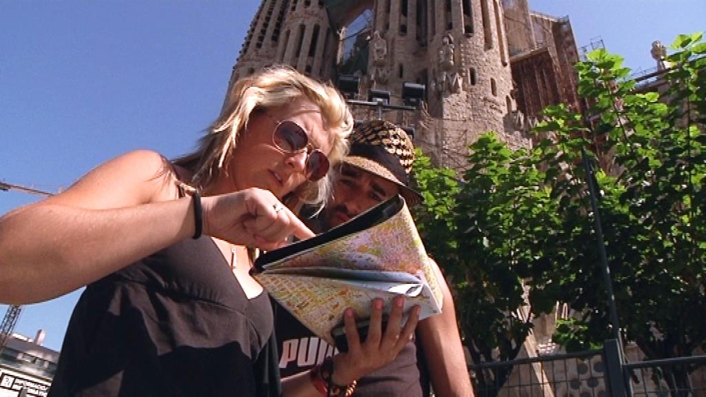 Turistes a la Sagrada Família