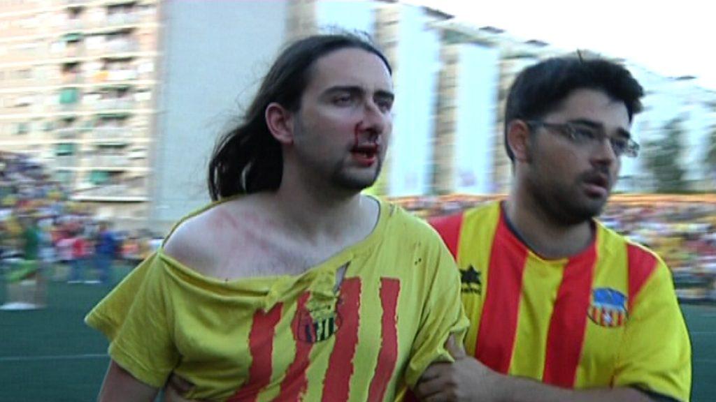 Un aficionat del Sant Andreu és agredit