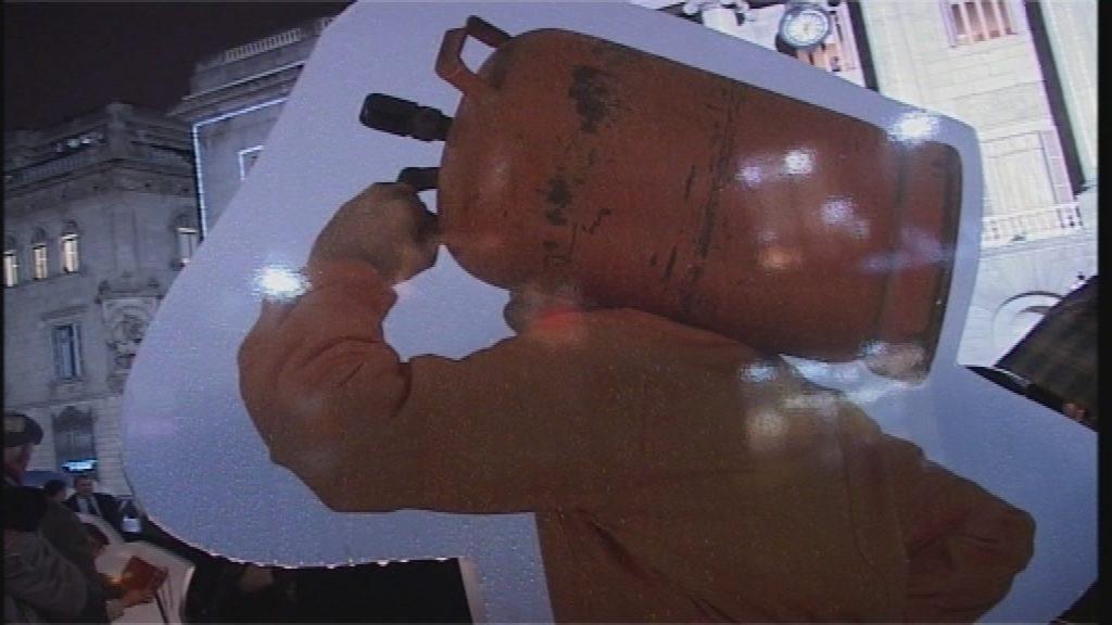 Un repartidor de gas butà al pessebre