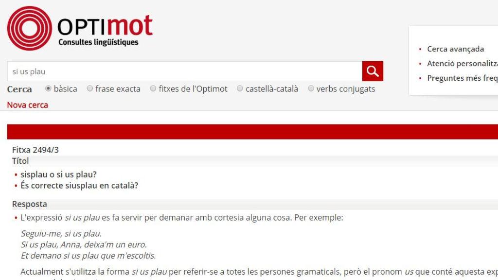 dubtes optimot català