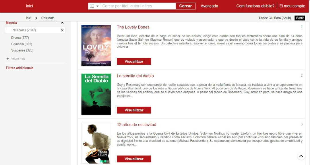 Pel·lícules online a les biblioteques