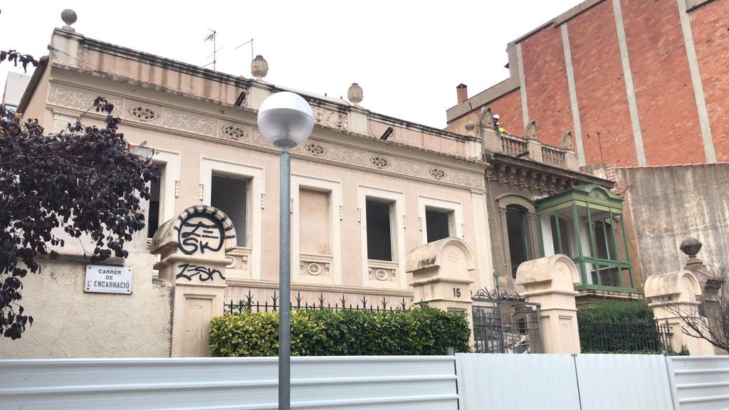 Casetes del carrer Encarnació del barri de Gràcia