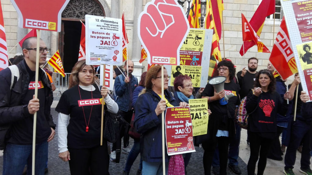 Manifestació funcionaris Generalitat