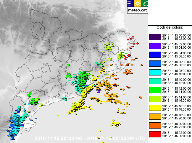 meteocat llamps catalunya mapa