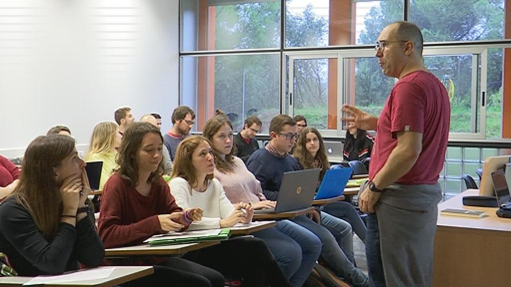 Classe del màster de professorat a la UAB