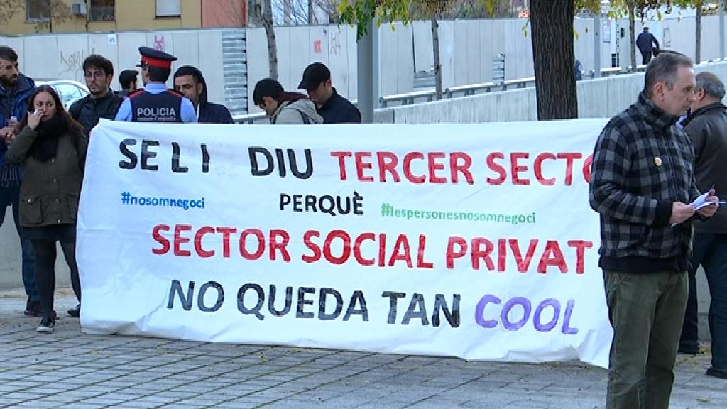 Protesta de treballadors del tercer sector
